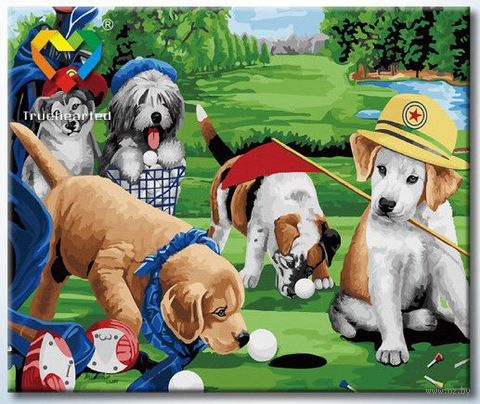 "Картина по номерам ""Игра в гольф"" (500x600 мм; арт. HB5060011) — фото, картинка"
