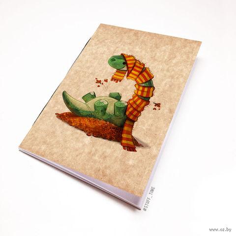 """Блокнот крафт """"Динозаврик"""" А7 (955)"""