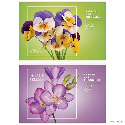 """Альбом для рисования А4 """"Цветы. Стильные букеты"""" (32 листа)"""