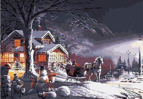 """Картина по номерам """"Крещенские морозы"""" (400х500 мм)"""