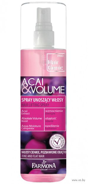 "Спрей для волос ""Acai & Volume"" (200 мл) — фото, картинка"
