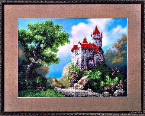 """Вышивка бисером """"Замок"""" (320х235 мм) — фото, картинка"""