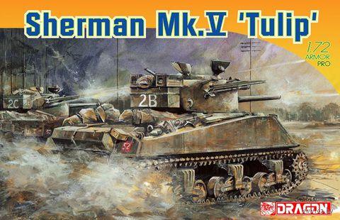 """Американский танк """"Sherman Mk.V Tulip"""" (масштаб: 1/72) — фото, картинка"""