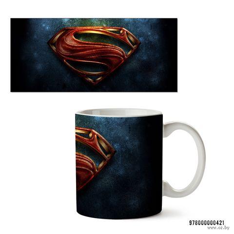 """Кружка """"Супермэн из вселенной DC"""" (белая; арт. 421) — фото, картинка"""