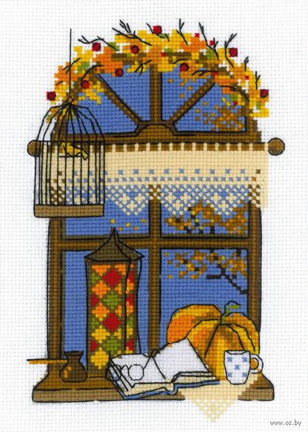 "Вышивка крестом ""Осеннее окошко"""