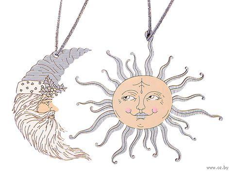 """Набор ёлочных украшений """"Солнце и луна"""" (арт. 530-4) — фото, картинка"""