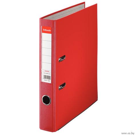 Папка-регистратор А4 с арочным механизмом 50 мм (ПВХ ЭКО, красная)