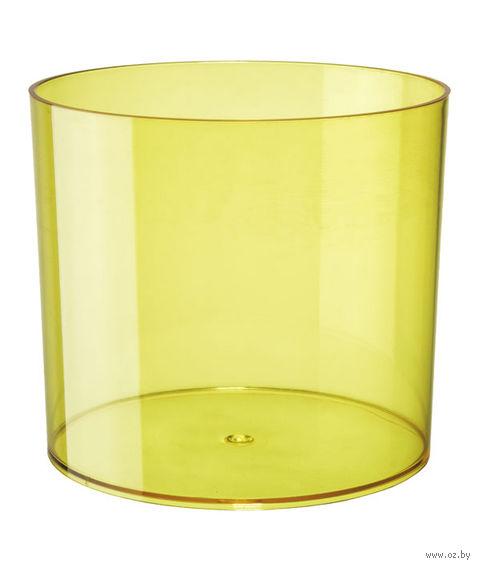 """Цветочный горшок """"Цилиндр"""" (15 см; прозрачный желтый) — фото, картинка"""
