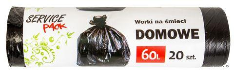 Пакеты для мусора (20 шт.; 60 л) — фото, картинка