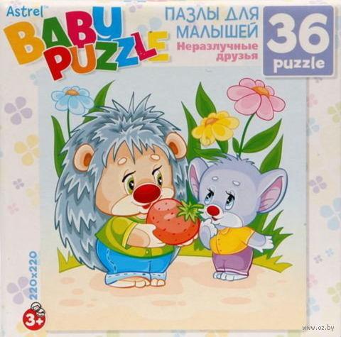 """Пазл """"Baby Puzzle. Ежик и Мышонок"""" (36 элементов) — фото, картинка"""
