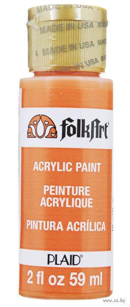 "Краска акриловая ""FolkArt. Acrylic Paint"" (оранжевая; 59 мл; арт. PLD-00628) — фото, картинка"