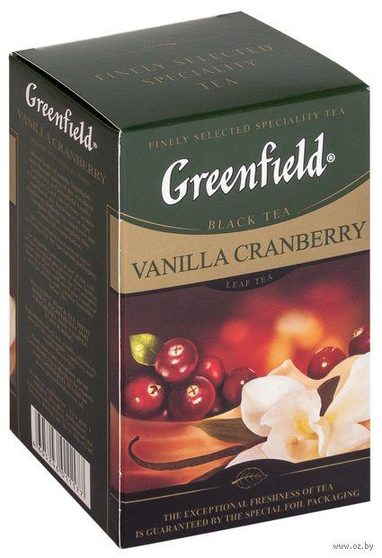 """Чай черный листовой """"Greenfield. Vanilla Cranberry"""" (100 г) — фото, картинка"""