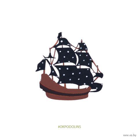 """Значок """"Корабль с парусами"""" (арт. 134-2) — фото, картинка"""