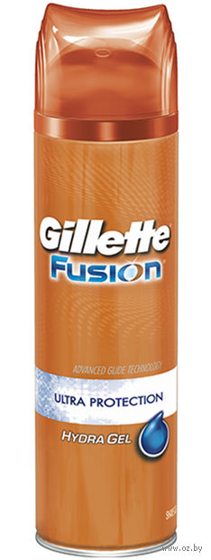 Гель для бритья Gillette FUSION Hydra Gel Ultra Protection с алоэ и глицерином (200 мл)