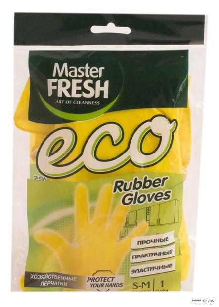 """Перчатки хозяйственные латексные """"Eco"""" (S-M; 1 пара) — фото, картинка"""
