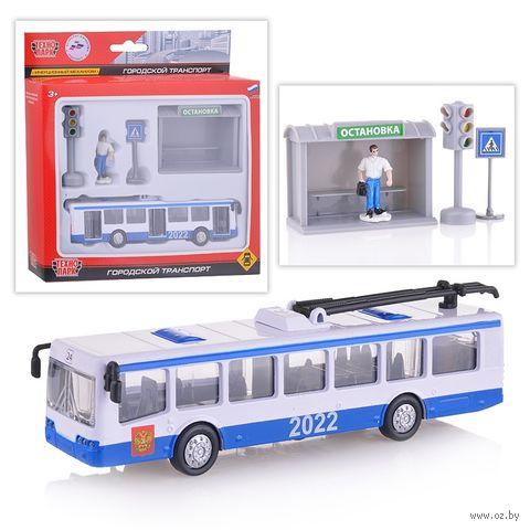 "Игровой набор ""Троллейбус"" (арт. SB-17-14-B-WB) — фото, картинка"