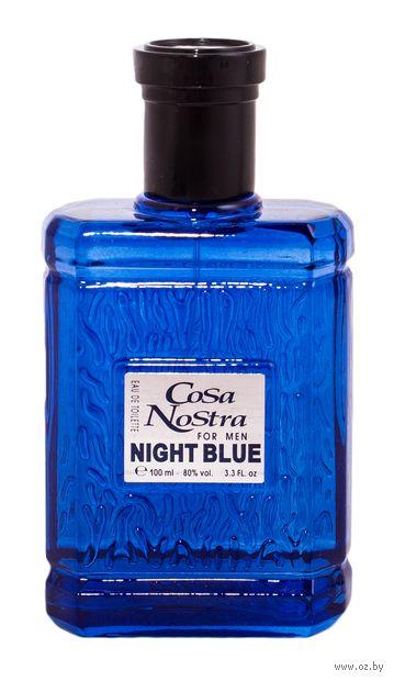 """Туалетная вода для мужчин """"Cosa Nostra Night Blue"""" (100 мл) — фото, картинка"""