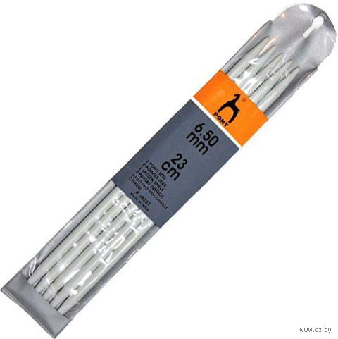 Спицы чулочные для вязания (пластик; 6,5 мм; 23 см) — фото, картинка