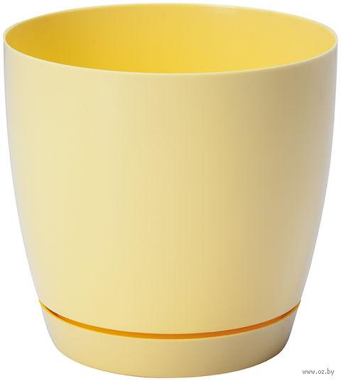 """Цветочный горшок """"Тоскана"""" (15 см; желтая пастель) — фото, картинка"""