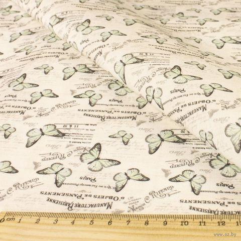 "Ткань ""Винтажные бабочки"" (48х50 см; арт. AM625010) — фото, картинка"