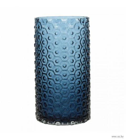 "Ваза стеклянная ""Kali Blue"" (26 см) — фото, картинка"