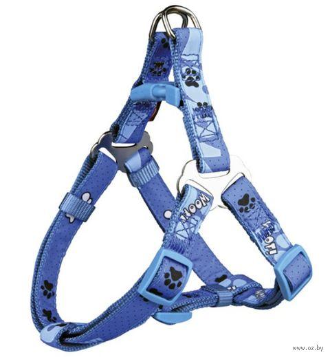"Шлея для собак ""Modern Art Harness Woof"" (размер XS-S; 30-40 см; голубой)"