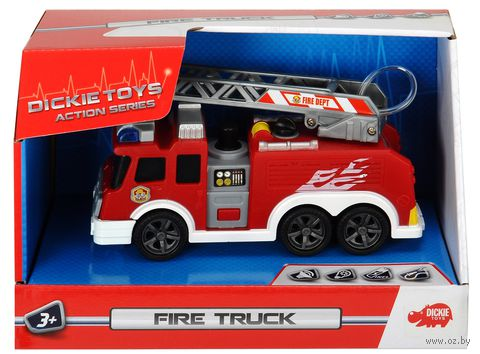 """Машинка инерционная """"Пожарная служба"""" (со световыми и звуковыми эффектами) — фото, картинка"""