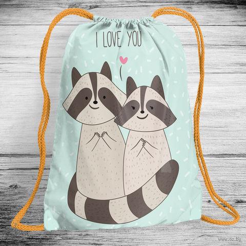 "Рюкзак-мешок ""Raccoons"" (арт. 2) — фото, картинка"