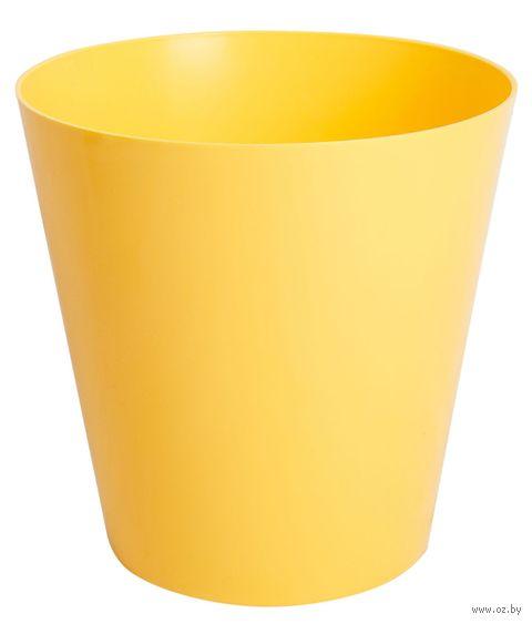 """Цветочный горшок """"Сэмпл"""" (15 см; желтый) — фото, картинка"""
