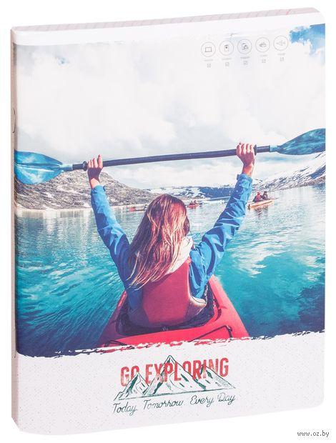 """Тетрадь общая в клетку """"Путешествия. Go Exlporing"""" (96 листов) — фото, картинка"""