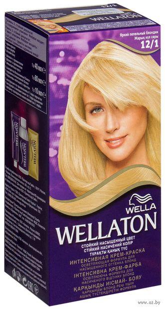"""Крем-краска для волос """"Wellaton"""" тон: 12/1, яркий пепельный блондин — фото, картинка"""