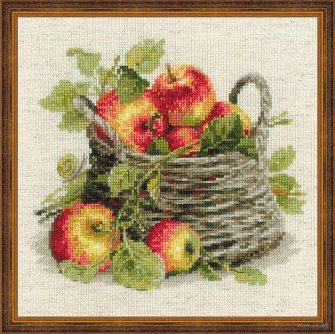 """Вышивка крестом """"Спелые яблоки"""" (300х300 мм) — фото, картинка"""