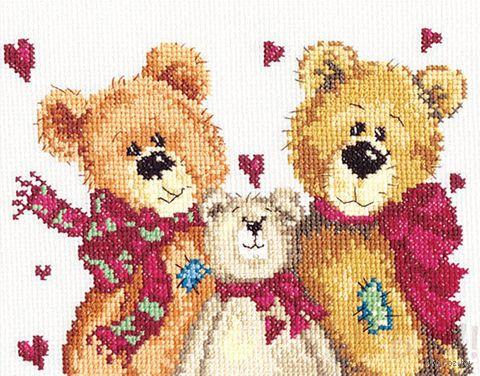 """Вышивка крестом """"Три медведя"""""""