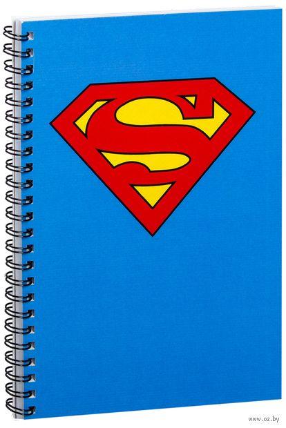 """Блокнот в клетку """"Супермен"""" A5 (988)"""