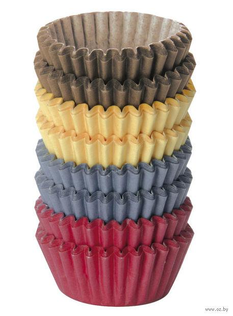 """Форма бумажная для выпекания кексов """"Delicia"""" (200 шт.; цветной) — фото, картинка"""