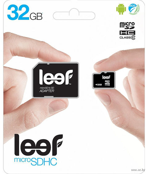 Карта памяти Leef microSDHC (Class 10) 32GB + адаптер [LMSA0KK032R5] — фото, картинка