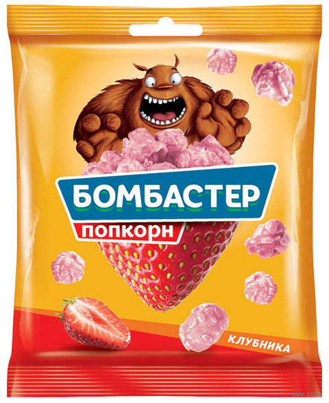 """Попкорн """"Бомбастер"""" (50 г; клубника) — фото, картинка"""