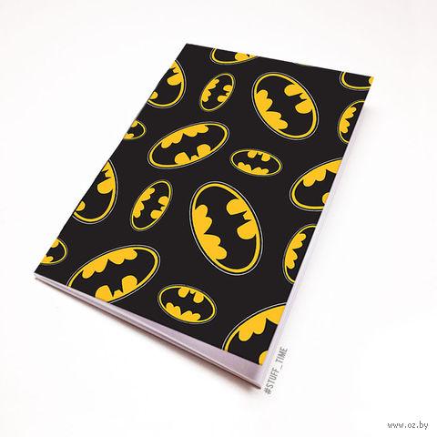 """Блокнот белый """"Бэтмен"""" А6 (981)"""