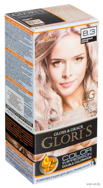 Крем-краска для волос (тон: 8.3, холодный блонд, 2 шт)