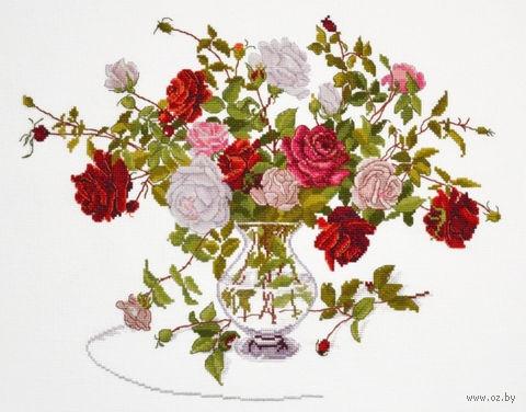 """Вышивка крестом """"Букет роз"""" (320x240 мм) — фото, картинка"""