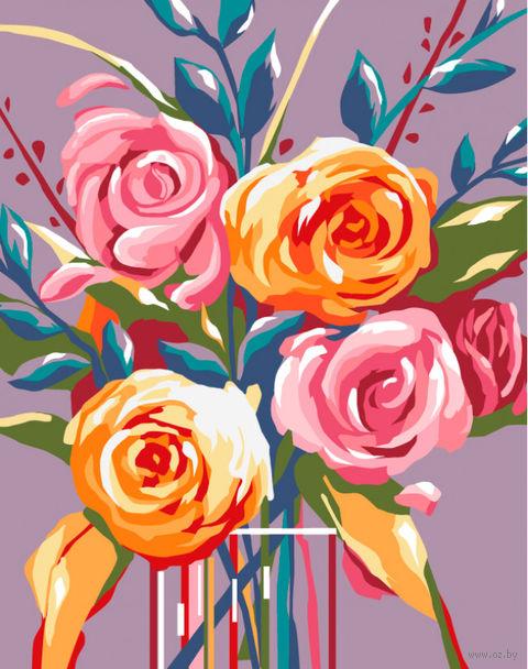 """Картина по номерам """"Нежные розы"""" (165х130 мм) — фото, картинка"""