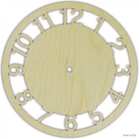 "Заготовка для часов ""Круг с арабскими цифрами"" (220 мм) — фото, картинка"