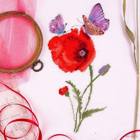 """Вышивка крестом """"Мгновения лета. Бабочки"""" (150х280 мм) — фото, картинка"""