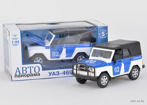"""Модель машины """"УАЗ-469. Полиция"""" (масштаб: 1/24)"""