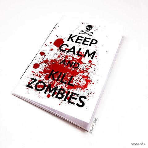 """Блокнот белый """"Kill Zombies"""" А6 (134)"""