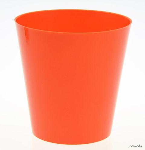 """Цветочный горшок """"Сэмпл"""" (15 см; оранжевый) — фото, картинка"""