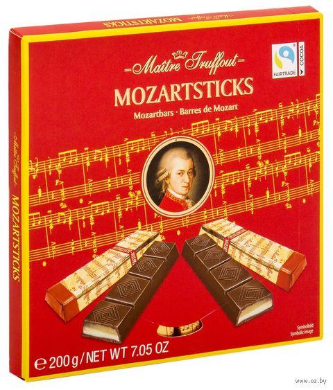 """Шоколад темный """"Mozartsticks. С начинкой из марципана"""" (200 г) — фото, картинка"""