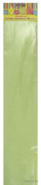 Бумага крепированная перламутровая (зеленый)