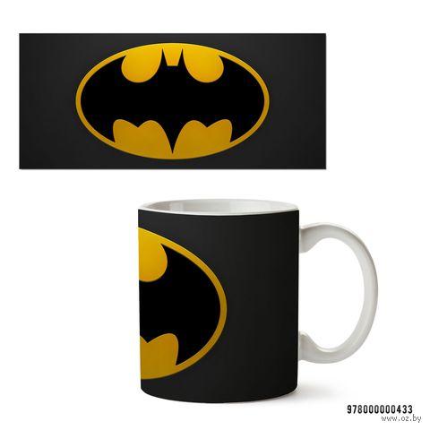 """Кружка """"Бэтмен из вселенной DC"""" (белая; арт. 433) — фото, картинка"""