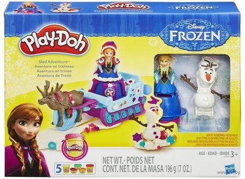 "Набор для лепки ""Play-Doh. Приключение Анны на санях"" — фото, картинка"